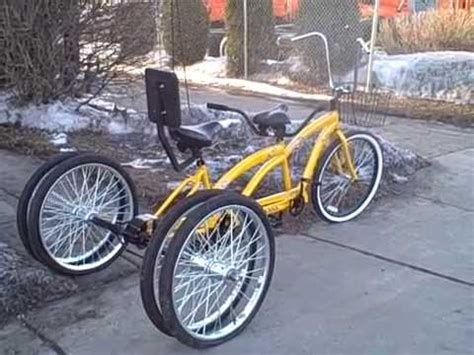 Five Wheel Tandem Bicycle Built For Two Youtube