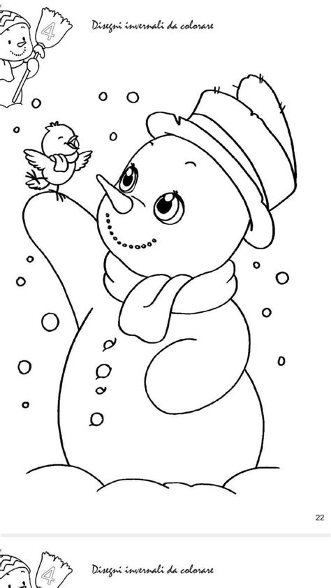 snowman  bird winter coloring page merry christmas coloring pages christmas coloring pages