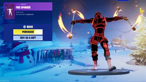 fire spinner fortnite emote youtube