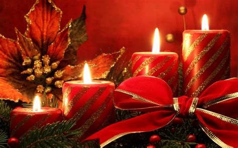 red christmas candles phone wallpapers