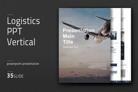 logistics  vertical powerpoint templates creative
