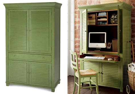 armoire cabinet pottery barn better best classical computer armoires popsugar