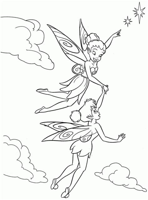 tinkerbell  fairy friends coloring pages coloring home