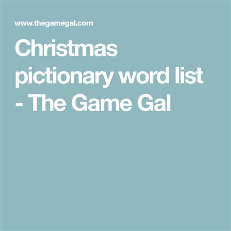 christmas pictionary word list printable festival