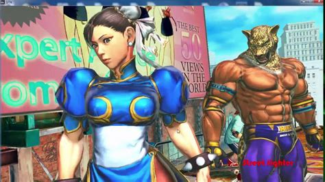 Street Fighter X Tekken Chun Li And King Fight Abel And