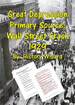 great depression primary source wall street crash