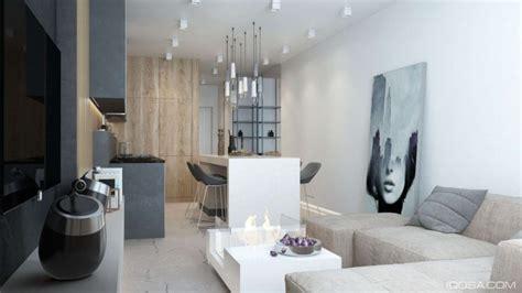 luxury small studio apartment design combined modern  minimalist style decor  stunning