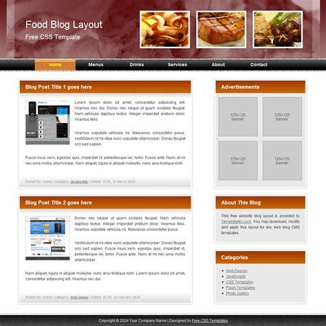 072 food blog template