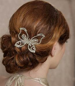Butterfly Headpiece Crystal Butterfly Hair Comb