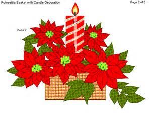 free printable christmas poinsettia basket wall decoration