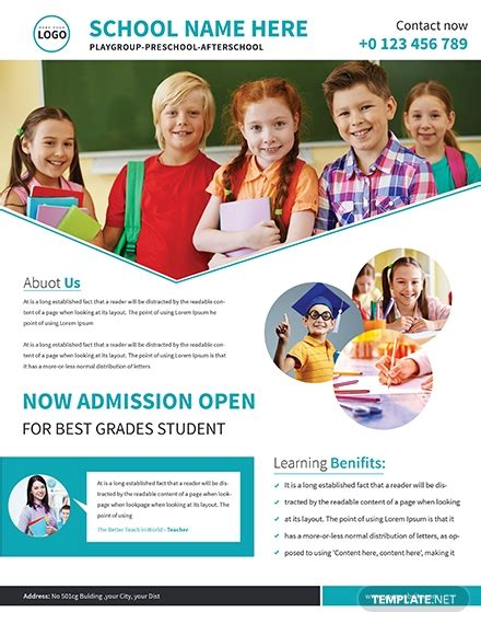 school admission flyer template   flyers