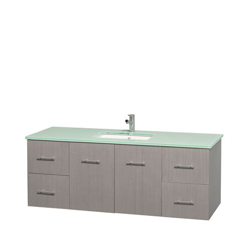 Single Sink Bathroom Vanity 60 Inch by Wyndham Collection Wcvw00960sgoggunsmxx Centra 60 Inch