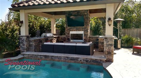 outdoor kitchen designs with pool outdoor living summer kitchens patio renovations san 7237