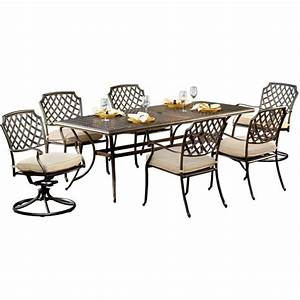 Agio sandalwood 7 piece patio dining set for Agio sandalwood 7 piece patio dining set