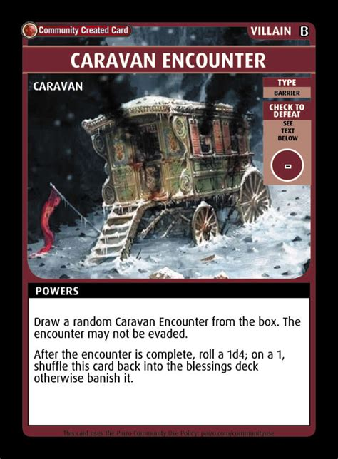 Find a great selection of caravan heating, lighting & electricals for sale at go outdoors both instore & online. Caravan Encounter - Custom Card - Paizo | Pathfinder Adventure Card Game Community Cards ...