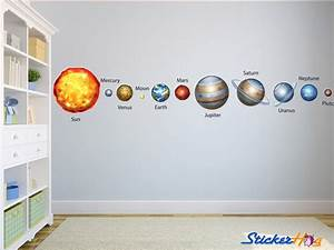 solar system planets wall decals graphic vinyl sticker With educational solar system wall decals