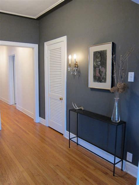 Jodi & Ryan's Immaculate Whimsy   Grey, Dark wood and Therapy