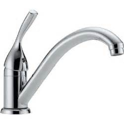 homedepot kitchen faucets delta classic single handle standard kitchen faucet in chrome 101 dst the home depot