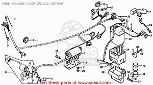Honda Ct70 Trail 70 1979  Z  Usa Wire Harness    Ignition Coil    Battery