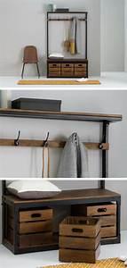 Meuble Entree Industriel : 17 meubles d 39 entr e design d coratifs fonctionnels ~ Teatrodelosmanantiales.com Idées de Décoration