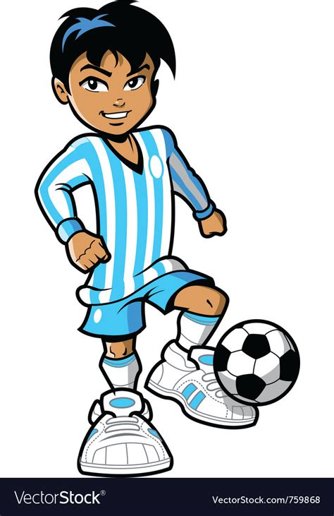 Cartoon Soccer Football Player Royalty Free Vector Image