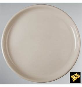 Assiette A Pizza : assiette en plastique pizza beige round pp 350mm 144 ut s ~ Teatrodelosmanantiales.com Idées de Décoration