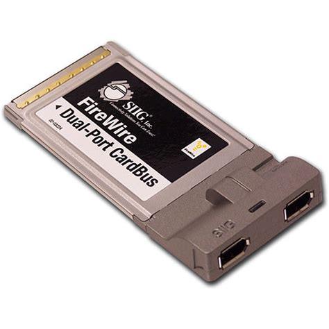 siig  port firewire  pcmcia cardbus host card nn pcm