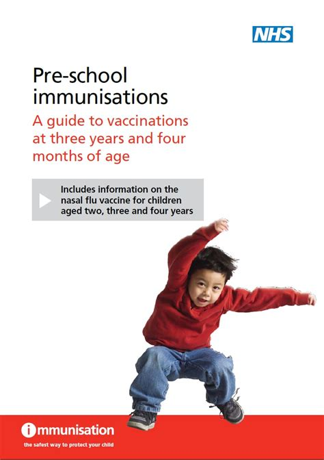 norfolk s living well 535 | preschool immunisations a guide to vaccinations at three years and four months of age cover G9DX