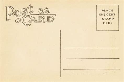 Vintage Postcard Back Template Vintage Postca Design