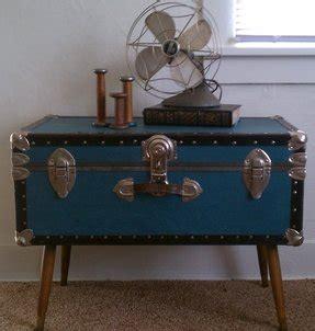 Vintage large art decorative aluminium coffee table trunk. Metal Trunk Coffee Table - Foter