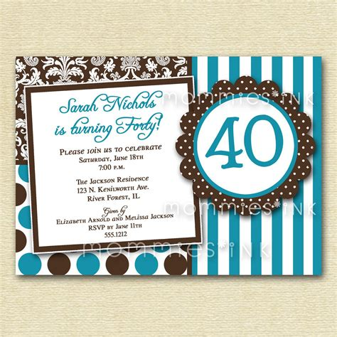 Unique 40th Birthday Invitations