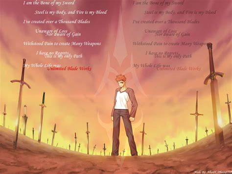 unlimited blade works wallpaper  wallpapersafari
