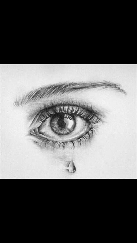 weinendes auge skizzierung zeichnungsskizzen