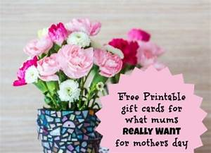11 Mother's day gift ideas: Free printable gift cards for ...
