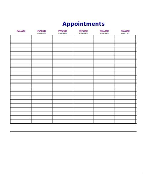 appointment schedule template daily schedule template 9 free word pdf documents free premium templates