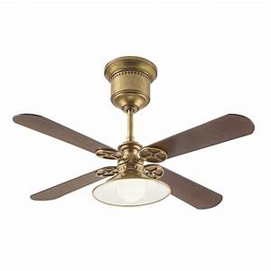 Kichler in natural brass downrod mount indoor ceiling fan with light kit and remote