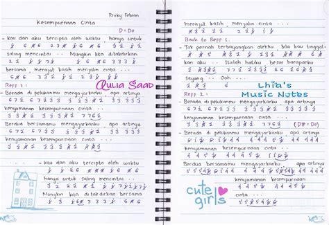 not angka pianika lagu kesempurnaan cinta not angka rizky febian kesempurnaan cinta aulia 39 s