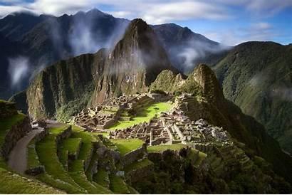 America South Peru Picchu Machu Mountains Landscape