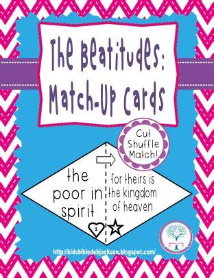 bible for the beatitudes 281   Beatitudes%2BMatch%2Bup%2Bcards