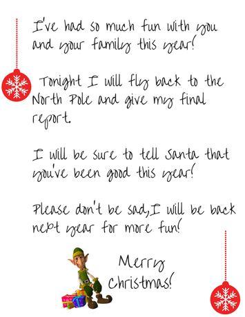 elf on the shelf goodbye letter on the shelf goodbye free printable letter simple 21463   Elf Goodbye Letter