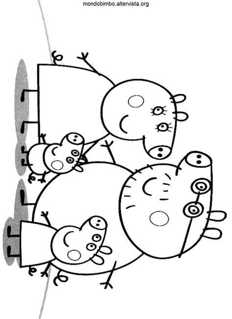 disegno da stare peppa pig peppa pig e la sua famiglia da colorare mondo bimbo