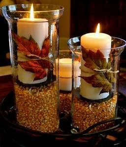 Herbst Dekoration Tisch : stunning diy fall crafts to welcome the new season ~ Frokenaadalensverden.com Haus und Dekorationen
