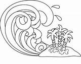 Tsunami Wave Waves Coloring Drawing Pages Line Clipart Ocean Clip Cartoon Paint Computerclipart Lines Sketch Computer Drawings 1018 1005 Getdrawings sketch template