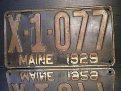 Maine Dmv Vanity Plates by Vintage Maine License Plate 1929 Gold Black Dmv Issue