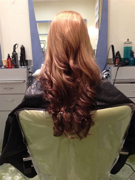 strawberry blonde reverse ombre  style pinterest