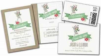 Rustic Invitation Jar Mason Winter Country Cards