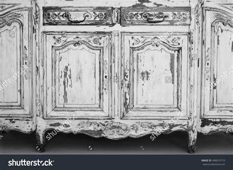 commode bureau closeup keyhole ancient white commode bureau stock photo
