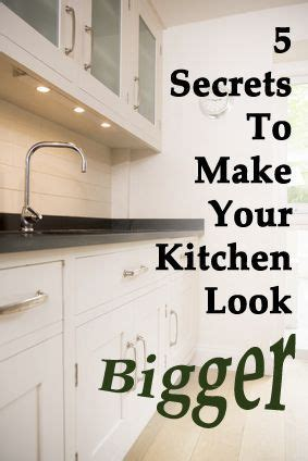 colored cabinets in kitchen 7 secrets to make your kitchen look bigger inspiration 8555