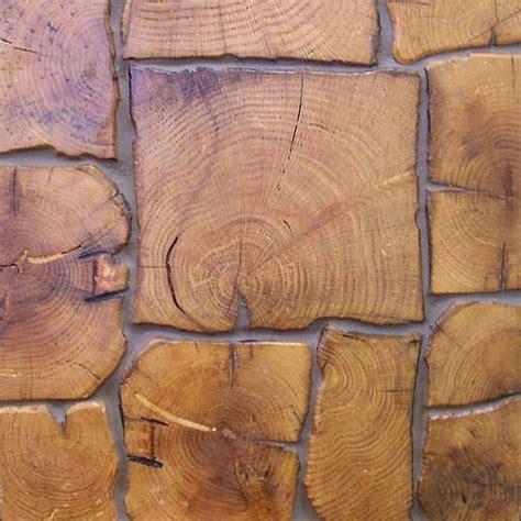 random cobble look of antique oak end grain tiles