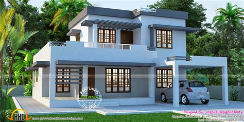 beautiful flat house exterior kerala home design and floor plans